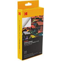 Kodak Pms-20 Pm-210 Modeli İçin 20 Adet 5X8 Sticker Özellikli Kağıt Ve Ribon