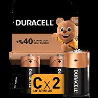 Duracell C  2 li Orta Boy Pil