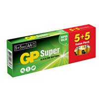 GP Süper Alkalin 5+5 AA Kalem Pil