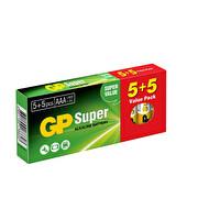GP Süper Alkalin 5+5 AAA İnce Pil