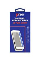PREO DAYANIKLI EKRAN KORUMA  IPHONE 12 PRO  (ÖN)  3D FULL CURVE
