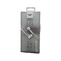 Powerway M9 Beyaz Mikrofonlu 3.5mm Stereo Silikonlu Kulak İçi Kulaklık