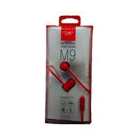 Powerway M9 Kırmızı Mikrofonlu 3.5mm Stereo Silikonlu Kulak İçi Kulaklık
