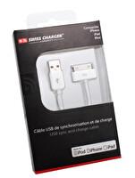 Swiss Charger SCC-10002 iPhone 4 30 Pin Lightning Şarj Kablosu