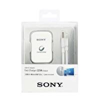 Sony Cp-Ad2L Ac Adaptör Beyaz 2.1A & 150Cm Micro Usb Data Ve Şarj Kablosu