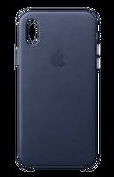 Apple MQTC2ZM/A iPhone X Deri Cep Telefonu Kılıfı - Gece Mavisi