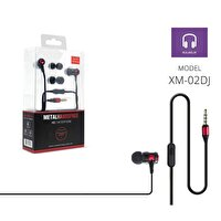 Powerway Pwr-Xm02Dj Kırmızı Extra Deep Bass Mikrofonlu Kulak İçi Kulaklık