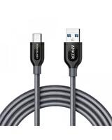 ANKER POWERLİNE+ USB TO USB-C TYPE-C ŞARJ/DATA KABLOSU 1.8 METRE - GRİ
