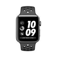 Apple Watch Nike+ S3 42mm Space Grey Alüminyum Kasa ve Antrasit Siyah Nike Spor Kordon