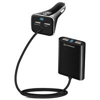 Naztech Hypergear Araç Şarjı 4 USB 8.2A Siyah Uzatmalı