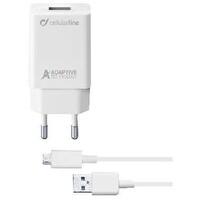 Cellularline Beyaz Micro USB Seyahat Şarjı 15W(Kablo+Adaptör)