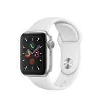Apple Watch S5 GPS 40MM Silver Alüminyum Kasa Beyaz Spor Kordon
