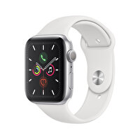 Apple Watch S5 GPS 44MM Silver Alüminyum Kasa Beyaz Spor Kordon