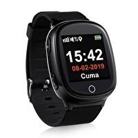 Tsmart S03 T-Watch Akıllı Yetişkin Alzheimer  GPS Takip Saati Siyah