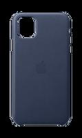 APPLE MX0G2ZM/A iPhone 11 Pro Max Deri Kılıf - Gece Mavisi