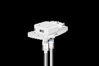 Ttec SmartCharger Seyahat Şarj Aleti 2A + TYPE C Beyaz Kablo
