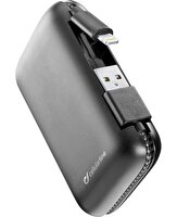 Cellularline FREEPCAB5MFIIPHK Powerbank MFI 5000 mAh, Entegre Lightning ve Usb-a Kablo