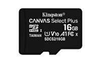 Kingston 16GB Micro SDHC Canvas Select Plus 100R A1 C10 CARD + Adaptör