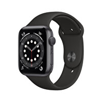 Apple Watch Seri 6 44mm Space Gray Alüminyum Kasa ve Siyah Spor Kordon M00H3TU/A