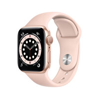 Apple Watch Seri 6 40mm Gold Alüminyum Kasa ve Kum Pembesi Spor Kordon MG123TU/A