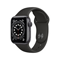 Apple Watch Seri 6 40mm Space Gray Alüminyum Kasa ve Siyah Spor Kordon MG133TU/A