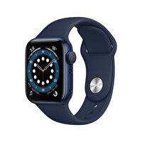 Apple Watch Seri 6 40mm Mavi Alüminyum Kasa ve Koyu Lacivert Spor Kordon MG143TU/A
