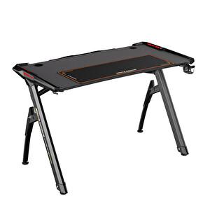 Adore Gaming Master AGT-124-QQ-1 RGB Oyuncu Masası Karbon Çelik Gövde Siyah