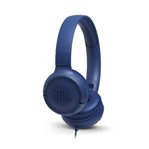 Jbl T500 Kulak Üstü Mikrofonlu Kulaklık Mavi