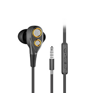 Preo My Sound MS35 Kulak İçi Kulaklık - Siyah - Gold