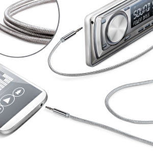 Celly Linein 35TEXSV Örgü 3.5mm Gümüş Ses Kablosu