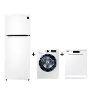 Samsung WW90J5475FW + RT46K6000WW + DW60M5042FW Beyaz Eşya Seti