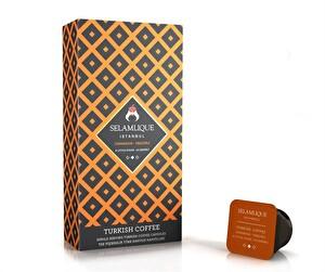 Selamlique Tarçınlı Türk Kahvesi Kapsülü 10 lu Paket (Az Şekerli)