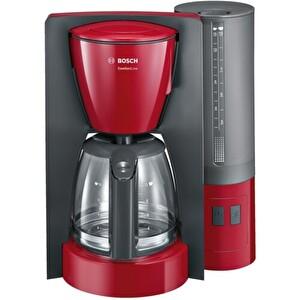 Bosch TKA6A044 Cam Sürahi Damla Emniyetli Filtre Kahve Makinesi Kırmızı