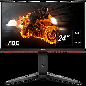 """AOC C24G1 23.6"""" 144 Hz 1ms Freesync Full HD DP Port HDMI Pivot Curved Oyuncu Monitörü"""