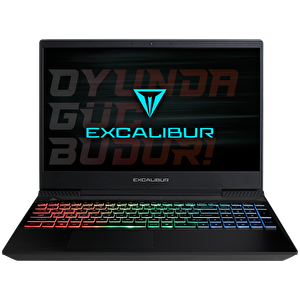 "Casper G770.9750-8EG0A Intel Core i7-9750H 2.6GHz 8GB 480GB SSD GeForce GTX1050 3GB GDDR5 15.6"" Excalibur Gaming Notebook"