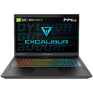 Casper Excalibur G780 Intel 10.Nesil i5-10300H 16 GB RAM 240GB SSD 4GB GTX1650Tİ 17'' W10 Home Siyah Gaming Notebook