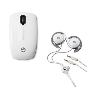 HP H3W59Aa H2000 Kulaklık Mikrofon Seti + HP E5J19Aa Z3200 Beyaz Kablosuz Mouse