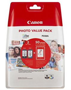 Canon 9059B003 Pg-46L/Cl 56 2 Li Paket Kağıt Hediyeli Kartuş