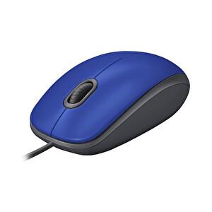 Logitech M110 Silent Kablolu Mavi USB Mouse 910-005488