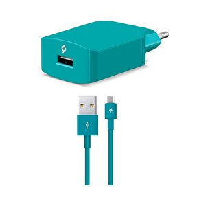 Ttec Speed Charger Seyahat Şarj Aleti 2.1A Micro USB Kablo - Turkuaz