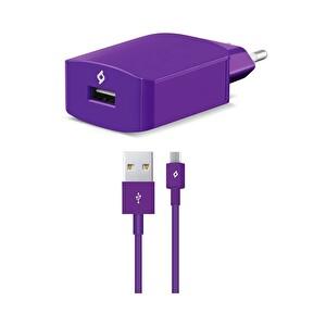 Ttec Speed Charger Seyahat Şarj Aleti 2.1A Micro USB Kablo - Mor