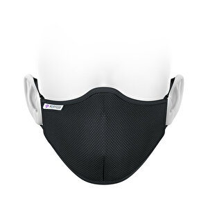 MediFash Aura-Siyah TSE Belgeli Bakteri Filtreli 3 Katlı Telli Maske Takma Aparatlı Siyah Yıkanabilir Maske