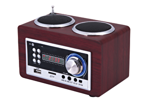 Goldmaster Sr-122 Portatif Retro Bluetooth Radyo Ve Ses Sistemi