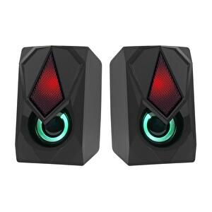 Frisby FS-2136U 2.0 Hoparlör Sistemi RGB Led Siyah (USB)