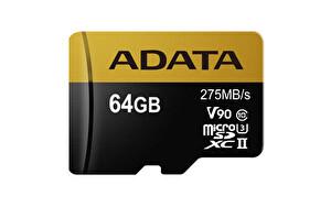 ADATA 64GB ADAPT. MICROSDXC UHS-II U3 KART 275/155MB/sClass10