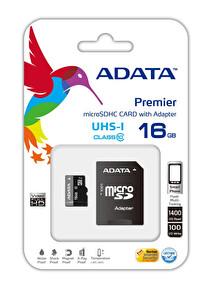 ADATA 16GB ADAPT. MICROSDHC UHS-I KART 50/10MB/s Class10