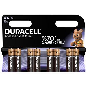 Duracell Professional  8 li AA Alkalin Kalem Pil