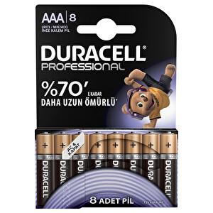 Duracell Professional  8 Li AAA Alkalin İnce Kalem Pil
