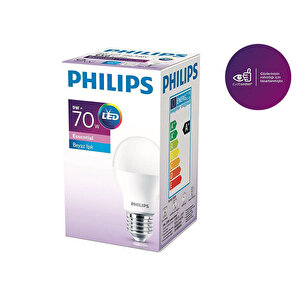 Philips Essential Led E27 9 70W Beyaz