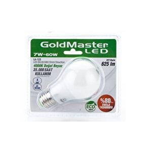 Goldmaster LA 122 Led Ampul 7W (Doğal Beyaz)
